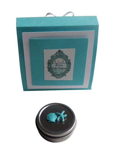 Luxury Beach SHELLS Solid Perfume-Comes with a free Necklace Charm
