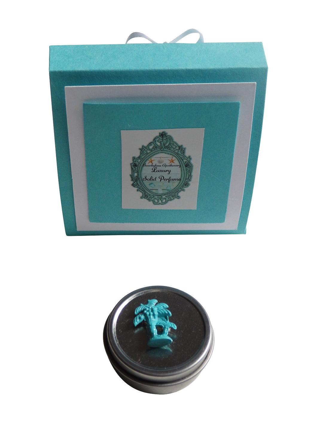 Luxury Beach PALM TREE Solid Perfume-Comes with a free Necklace Charm