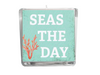 Seas the Day Beach Quote Candle-Comes with a free Starfish Charm
