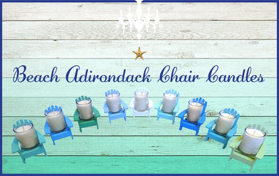Ocean Blue Adirondack Chair Candle-Comes with a free Starfish Charm