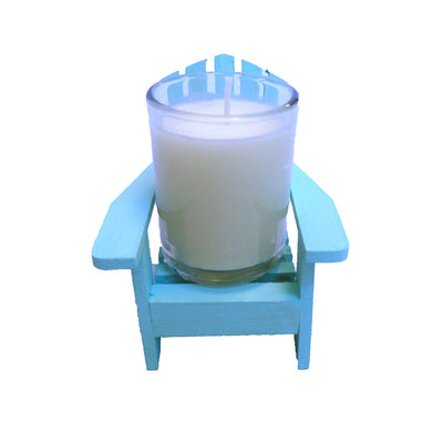 Light Blue Adirondack Chair Candle-Comes with a free Starfish Charm