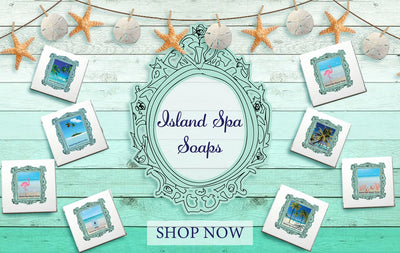 Floating Floating Island Spa Beach Soap-Comes with a FREE Palm Tree Jewelry Charm