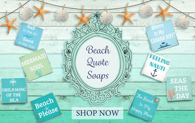 Beach Quote Soap Bar-WHOLESALE SET OF 12  COUNT