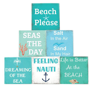 Beach Quote Soap Bar Gift Set-6 COUNT-Beach Style Set