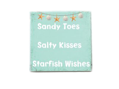 Sandy Toes ,Salty Kisses ,Starfish Wishes Beach Quote Soap Bar