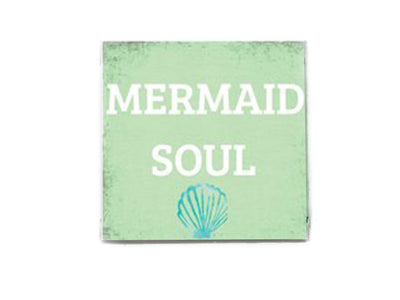 Mermaid Soul Beach Quote Soap Bar