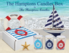 The Hamptons Candles Gift Box-Free Beach Charm-SET OF 3