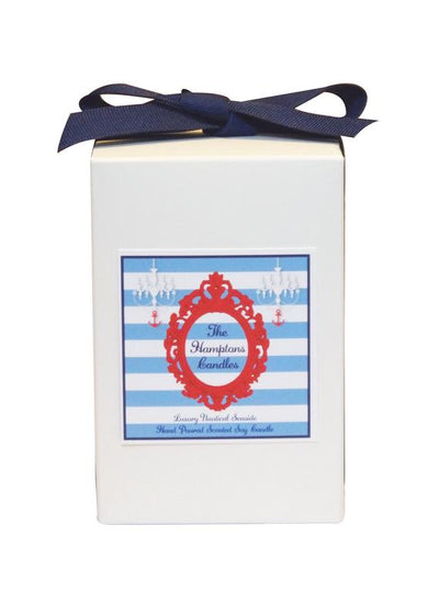 Luxury The Hamptons Anchor Wheel Seaside 100% Coconut SOY 8 oz. Candle