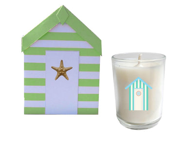 Cabana Beach Hut Candle Box Set of 3-Comes with a free Necklace Charm