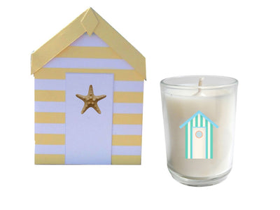 Cabana Beach Hut Candle Gift Set of 3-Comes with a free Necklace Charm