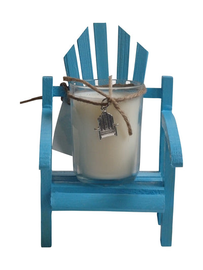 Luxury Miniature Adirondack Chair Candle Beach Wedding Favors Set of 6-Comes with a free Necklace Charm-Design Your Own