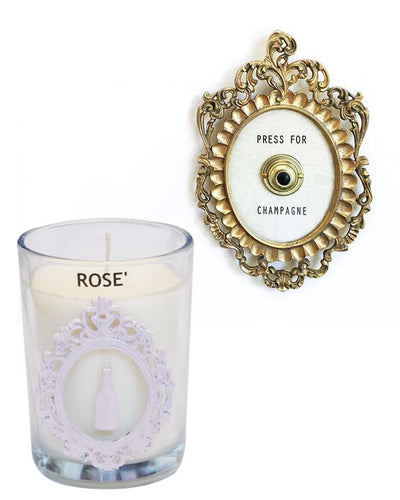 Luxury The Hamptons ROSE' Wine Seaside 100% Coconut SOY 8 oz. Candle