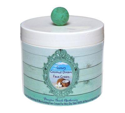 Travel Size Coconut Face Cream 2 OZ-Free Starfish Charm