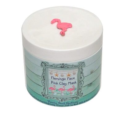 Travel Size Flamingo Face Pink Clay Mask 2 OZ-Free Starfish Charm