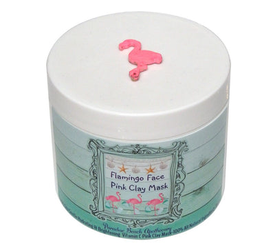 Flamingo Face Pink Clay Mask-Comes with a free Flamingo Necklace Charm