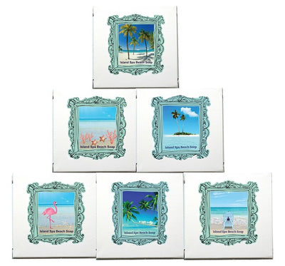 Tiki Hut Beach Spa Beach Soap-Comes with a FREE Palm Tree Jewelry Charm