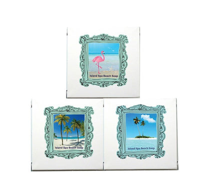Tropical Bliss Island Spa Beach Soap-Comes with a FREE Palm Tree Jewelry Charm