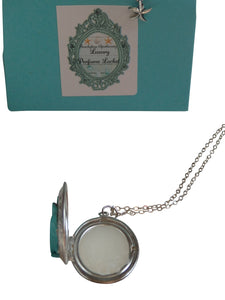 Seaside Solid Perfume Locket Necklace-Comes with a free Necklace Charm
