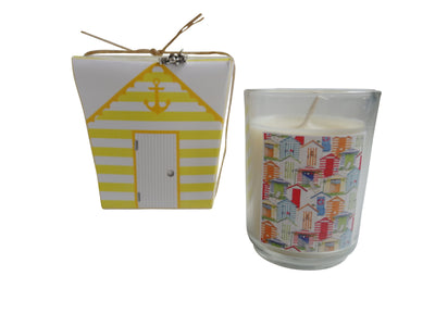 Cabana Beach Hut Candle-Comes with a free Necklace Charm