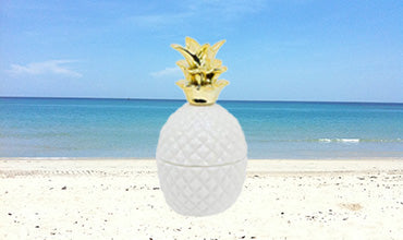 Luxury Palm Beach Pineapple Glamour Candle Jar -100% SOY Candle Hand Poured