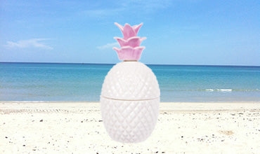 Luxury Palm BeachPineapple Glamour Candle Jar -100% SOY Candle Hand Poured