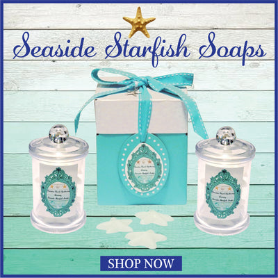Seashore Starfish Soaps Apothecary Jars-WHOLESALE SET OF 12 COUNT