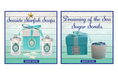 Seashore Shell Soaps Apothecary Jar Set of 2-Free Shell Jewelry Charm