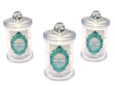 Seashore Starfish Soaps Apothecary Jars-WHOLESALE SET OF 3 COUNT