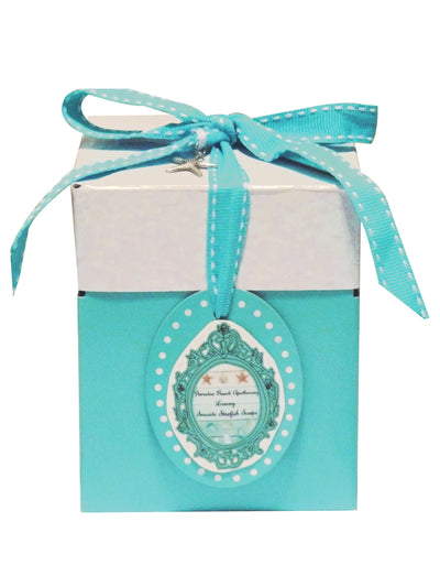 Add On Aqua Blue and White Gift Box
