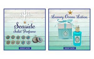 Ocean Lotion Favors Set of 6-Free Seashell Charm