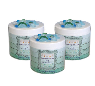 Dreaming of the Sea Luxury Sea Salt Scrub-WHOLESALE SET OF 3 COUNT