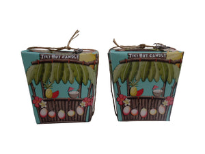 Island Tiki Hut Candle-Comes with a free Necklace Charm