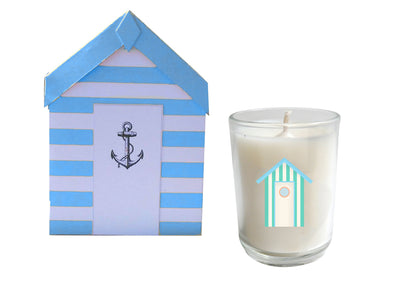 Cabana Beach Hut Candle-WHOLESALE SET OF 20 COUNT