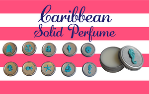 Luxury Beach SAND DOLLAR Solid Perfume-Comes with a free Necklace Charm