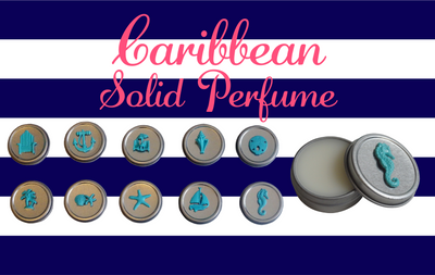 Luxury Beach CABANA Solid Perfume-Comes with a free Necklace Charm