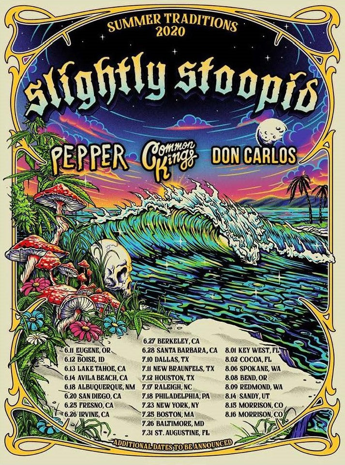 Slightly Stoopid's 2020 Summer Traditions Tour Announced