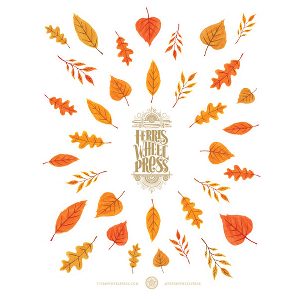 Ferris Wheel Press Fall Leaves Sticker Sheet