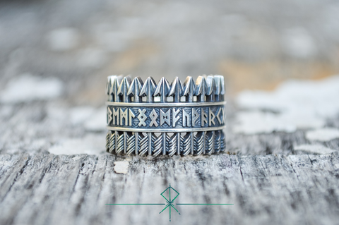 TYR - Argent Massif - Bague Viking Vikings TYR NORSE
