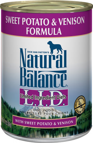 Natural Balance L.I.D. Venison and Sweet Potato Canned Dog Food