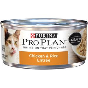 Purina Pro Plan Chicken and Rice Entree In Gravy Canned Cat Food