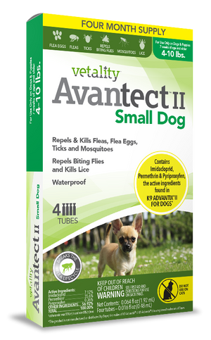 Vetality™  Avantect II For Small Dogs 4-10 lbs.