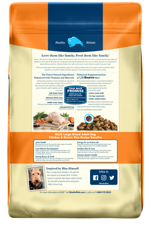 Blue Buffalo Large Breed Chicken and Brown Rice Recipe Dry Adult Dog Food
