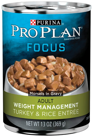 Purina Pro Plan Focus Weight Management Turkey and Rice Canned Adult Dog Food