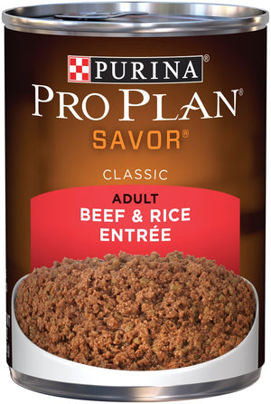 Purina Pro Plan Savor Beef and Rice Entree Canned Adult Dog Food