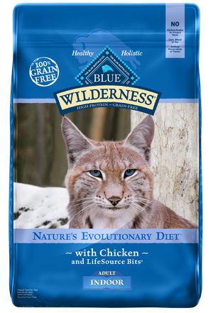 Blue Buffalo Wilderness Grain Free Indoor Chicken Dry Cat Food