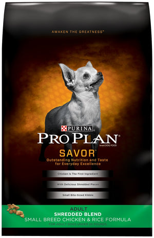 Purina Pro Plan Savor Small Breed Adult Chicken and Rice Dry Dog Food