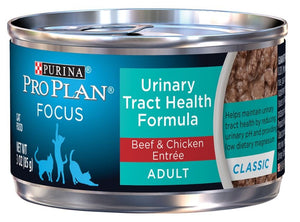 Purina Pro Plan Focus Adult Urinary Tract Health Beef and Chicken Entree Canned Cat Food