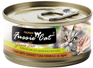 Fussie Cat Tuna with Smoked Tuna Grain Free Canned Cat Food