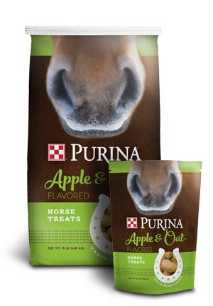 Purina Horse Treats Apple and Oat Flavored