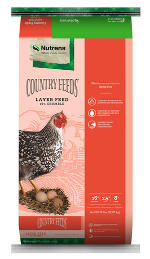 Country Feeds Layer Feed 16% Crumbles